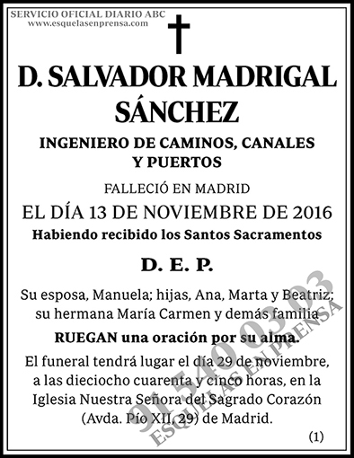 Salvador Madrigal Sánchez